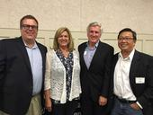 From left, Chris Greer, Cherie McDougald, Bill Frost and Tu Tran at the retirement celebration June 16 in Davis.