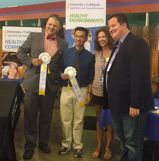 UC IPM's Mark Takata and Chinh Lam won third place for their Asian citrus psyllid tracking system.