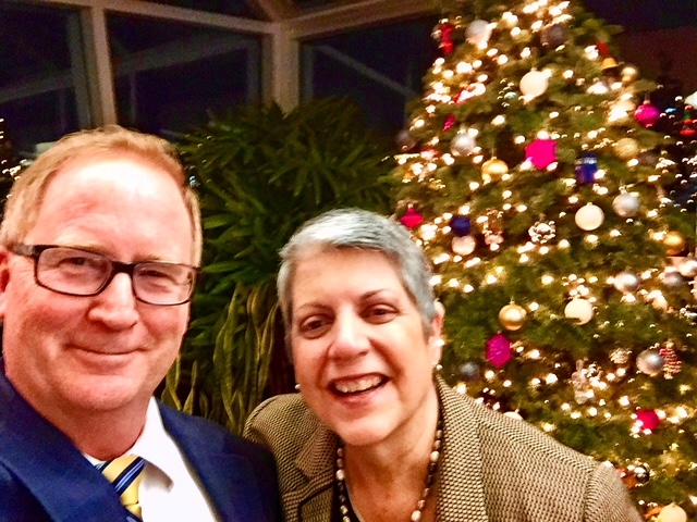 Dean Lairmore snapped a selfie with President Napolitano