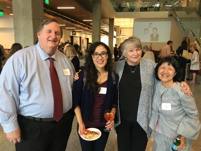 Kelly Brownell, Jen Falbe, Crawford and May Wang at the retirement party.