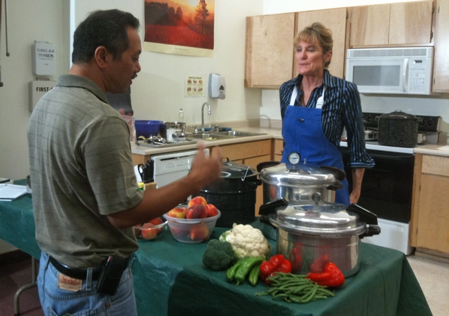 Lucas coached UCCE nutrition advisor Susan Algert for a video about safe techniques for canning food.