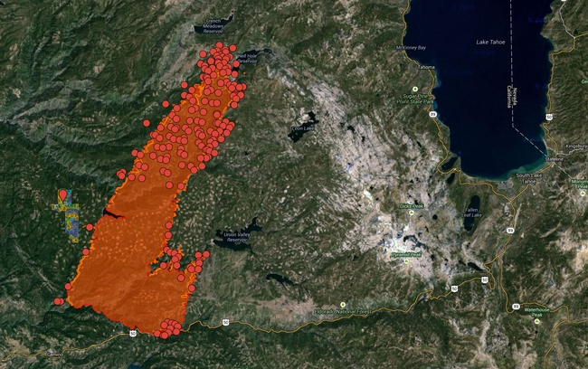 Blodgett Forest King Fire Map - updated Sept. 19, 2014.