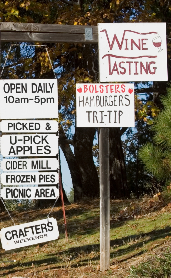 agritourism signs