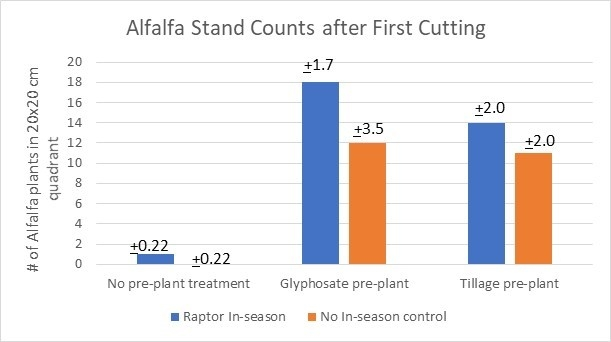 Firgure 4. Alfalfa Stand Counts after First Cut