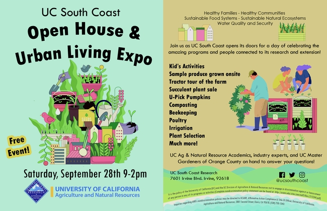 Urban Living Education Expo Flyer Sept. 28 9am to 2pm