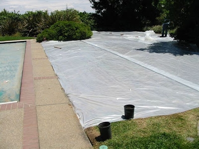 large lawn being solarized
