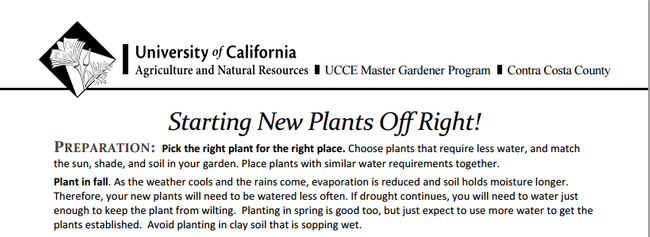 MGCC's Planting Guidance
