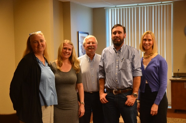 CASI's Mitchell (center) flanked by Gabriele Ludwig, Jenny Nicolau, Spencer Cooper, and Carissa Sauer.(from left to right).