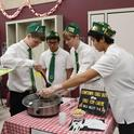 The Cowtown Chili Boys of the Vaca Valley 4-H Club test the temperature of their chili at the Solano County 4-H Chili Cook-Off.(Photo by Kathy Keatley Garvey)