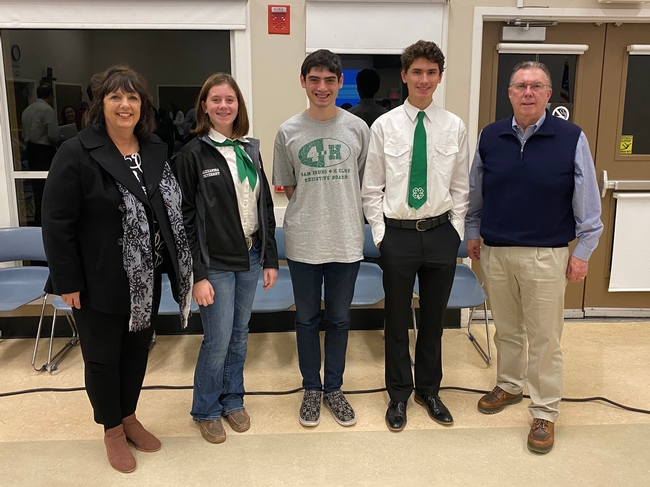 Pat Bohm (former 4-H leader), Alex, Adam, and Tristan with Jim Ruane, former San Bruno mayor