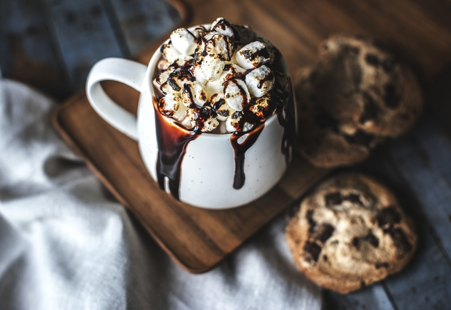 hot cocoa and cookies pics fm