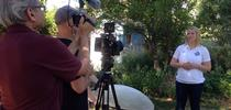 Missy Gable, director of the UC Master Gardener Program, works on video series. for Green Blog Blog