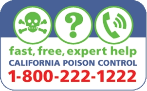 Poison control number 1-800-222-1222