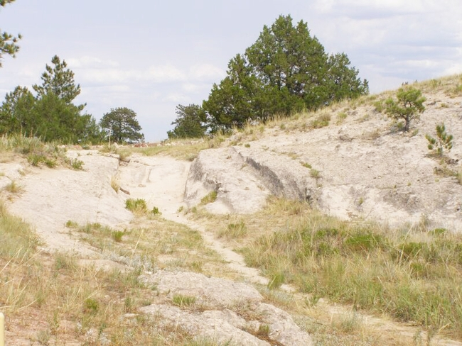 Oregon Trail Ruts State Historic Site in Wyoming. (Photo: Wikipedia)