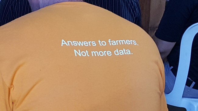 Answers to farmers. Not more data.