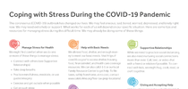 Coping With Stress During the COVID-19 Pandemic One-Pager Page 1 for Healthy Central Sierra Blog