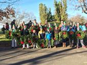 Placer County 4-H youth lay wreaths for Veterans