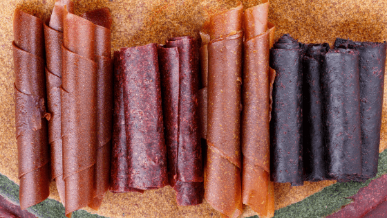 Dehydrated fruit leather.