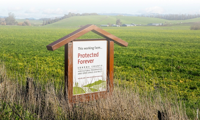 Sonoma County Agricultural Preservation and Open Space District sign
