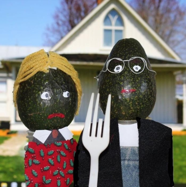 American Gothic created by Linda Genis.