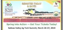 2019 Ag Tech Summit Flyer for Salinas Valley Agriculture Blog