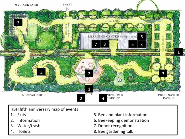 Honey Bee Haven fifth anniversary map