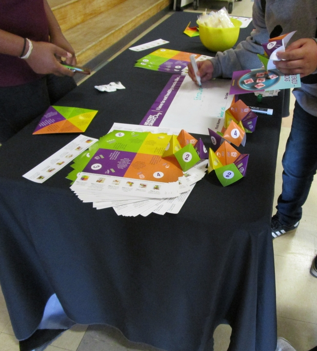 Healthy Snack Day table