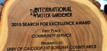 2015 Search for Excellence Award for UCCE Sonoma Blog