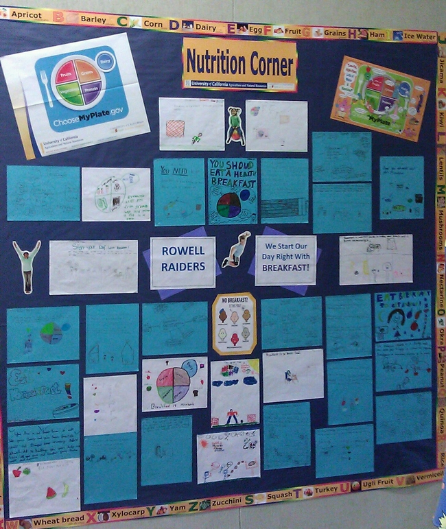 Rowell Elementary Nutrition Corner