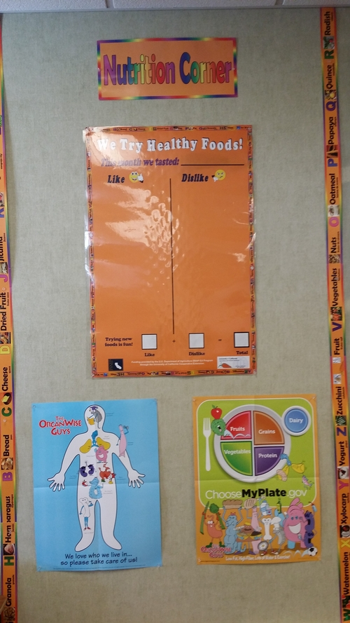 Ms. Owen's Nutrition Corner at Rowell Elementary, September 2014