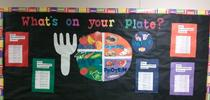 What's on your plate? MyPlate visuals helped reinforce the concept of eating a variety of foods. for UC CalFresh Fresno County Blog