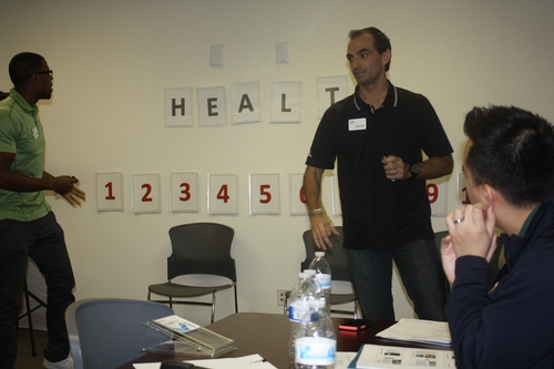 From Left to Right: Jason Wara and Charles Clancy, nutrition educators with Fresno County Office of Education lead us in an interactive nutrition game show! This game show incorporated nutrition trivia with physical activity, we can't wait to use it with students!