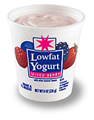 dairy cup of low-fat yogurt