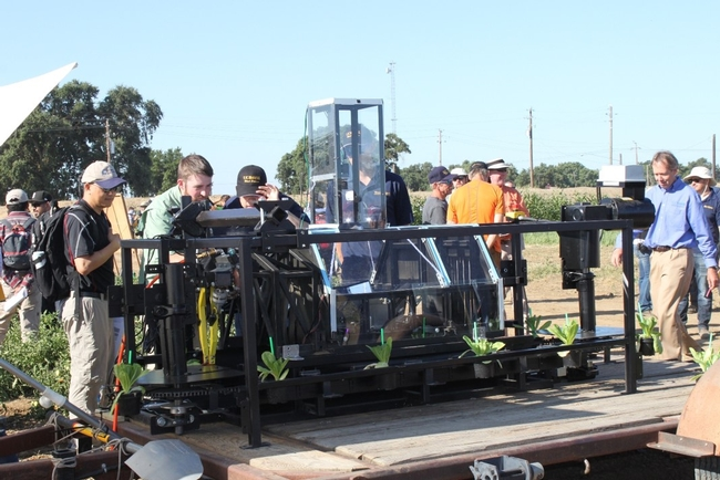 crop sensing demo for robotic cultivator