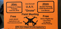 2018 Merced County UAV Flier for UC Weed Science Blog