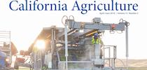 California Agriculture magazine cover for UC Weed Science Blog