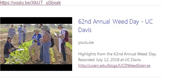 2018 UC Weed Day video UCANR