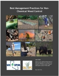 Best Management Practices for Non-Chemical Weed Control manual cover