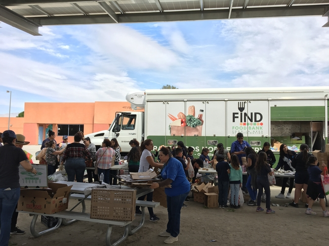 FIND Food Bank Distribution at Cesar Chavez Elementary School