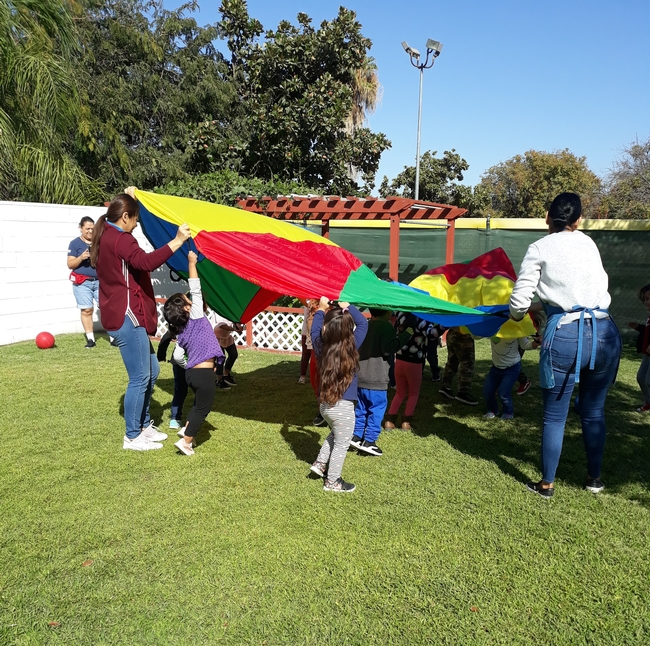 Children engaged in CATCH ECE activities
