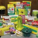 An assortment of traps and barriers are available at retail nursery and garden centers.