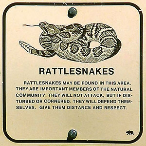 Rattlesnake sign (source - californiaherps.com)
