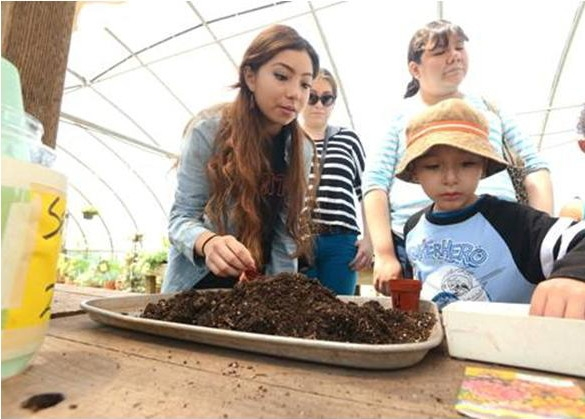 Cal Maritime Cadet & Community Engagement Student Assistant, Natalie Laconsay, at Loma Vista's Spring Festival.(photo by Mike Jory/Vallejo Times Herald)
