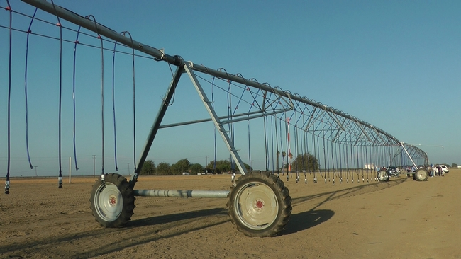 The center pivot system at the UC West Side Research and Extension Center before crops were planted.