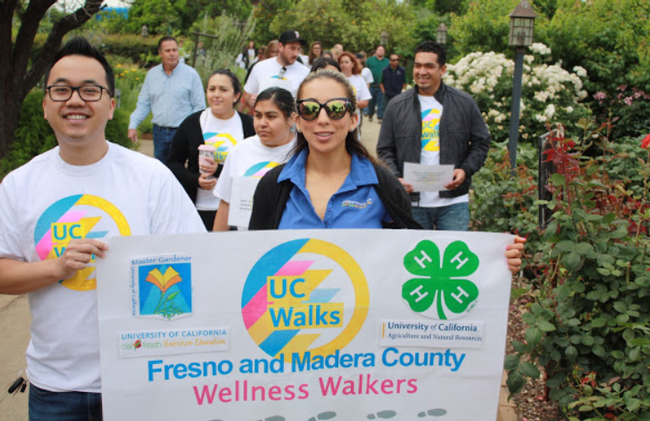 UCCE Fresno walks (Photo courtesy of Austin Cantrell)