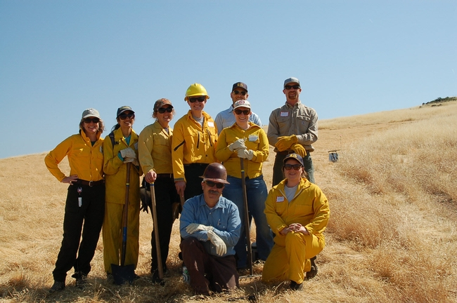 UCCE at SFREC for a prescribed fire workshop (Photo courtesy of Kate Wilkin)