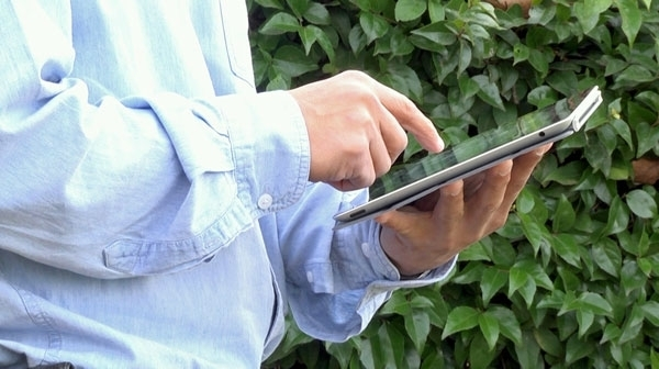 Farmers can access CropManage from the field with a smart phone or tablet computer.