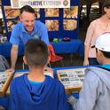 UCCE advisor David Haviland teaches children to respect insect life.
