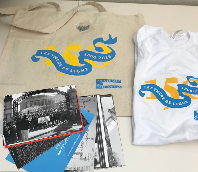 Kit Alviz won a 150th anniversary tote bag, T-shirt, lapel pin and set of decorative postcards.