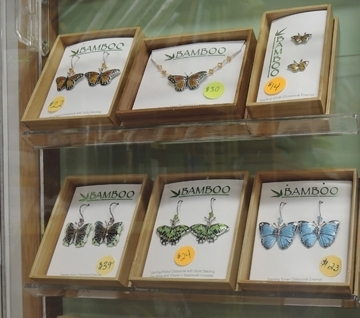 If you like jewelry with an insect motif, the Bohart Museum of Entomology can oblige. (Photo by Kathy Keatley Garvey)